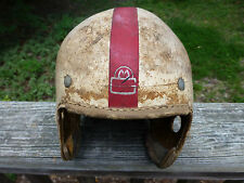 Antique Vintage Mac Gregor E 684 Football Helmet Leather 1930's 1940's