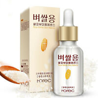 White Rice Serum Natural Plants Organic Reduces Wrinkles Lightens Dark Spots