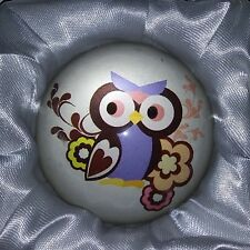 12 Owl Design Round Glass Paperweights by Age & Beyond 6 X 6cm & 110 Grams