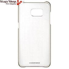 Samsung Coque pour Galaxy S7 Edge - Transparent/doré