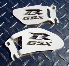 White Suzuki GSXR Logo Heel / Ankle Guards / Plates GSX-R 600 750 1000