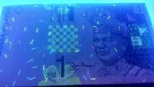 Malaysia P39, 1 Ringgit, King Tuanku Abdul Rahmanr / seacoast, kite, pinnacle