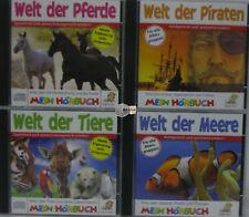 4 x Kinder Wissens Lehr/Lern Hörbuch Hörbücher CD Sammlung Mein Hörbuch