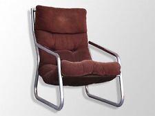 fauteuil structure tubulaire inox et velours