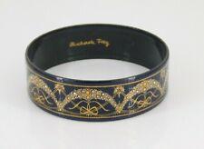 "Michaela Frey Enamel Bangle Bracelet 2.5"" Diameter"