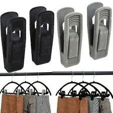 5/10/20xNon Slip Velvet Hangers Clips for Flocked Trouser Coat Clothes Pant Clip