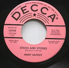 Country Promo 45 Jimmy Gateley - Sticks And Stones / It'S Not Every Day On Decca