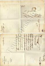 Prefilatelia - Lettera in franchigia da Peschiera a Bussolengo (Verona), 1872