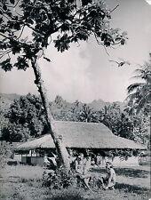 TAHITI c. 1940 - Paysage et Habitation - T 90