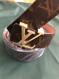 LV Brown Monogram Mens Belt