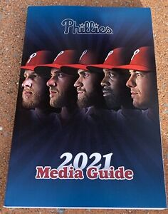2021 MLB Baseball Philadelphia Phillies Media Guide Bryce Harper IN STOCK