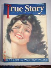 TRUE STORY - Dec. 1930 - LOVE IS EXILE - THEY ONLY MET AT NIGHT - MY STRANGE DEF
