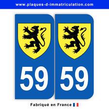 Stickers pour plaque département 59 Nord (jeu de 2 stickers) blason