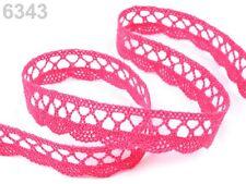 Spitze Spitzenband Klöppelspitze 100% Baumwolle rosa pink 18mm br.Spitzenborte