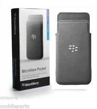 Genuino original BlackBerry Z10 Gris Microfibra Bolsillo Funda ACC-49282-201