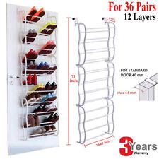 Over The Door 36 Pairs Shoe Rack Storage Shelf Stand Organiser Hanging Shoes Top