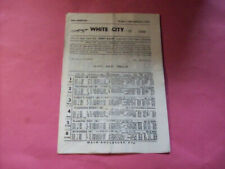 White City Manchester Greyhound Stadium 1979 programme dogs form racecard Racing