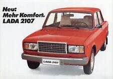 Lada 2107 Prospekt 1984 8/84 Autoprospekt brochure brosjyre broschyr prospectus