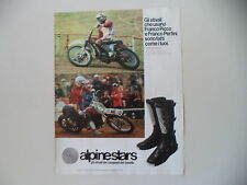 advertising Pubblicità 1979 ALPINESTARS e MOTO VILLA 500 e FRANCO PICCO