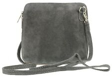 Womens Small Genuine Italian Suede Vera Pelle Cross Body Shoulder Bag Designer