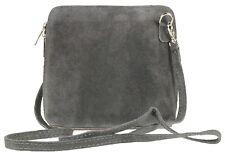 aaee894382e0 Womens Small Genuine Suede Cross Body Shoulder Bag Strap Real Italian  Designer