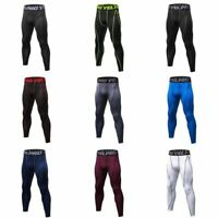 Men's Compression Base Layer Pants Quick Dry Sport Leggings Gym Workout Trousers