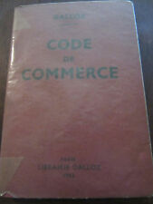 Dalloz: code de commerce/ Librairie Dalloz 1963