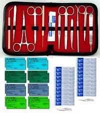 New Premium 48 Pc Minor Surgery Suture Set Surgical Veterinary Instruments Kit