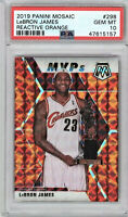 PSA 10 Lebron James 2019 Panini Mosaic Orange Reactive Prizm #298 Gem Mint