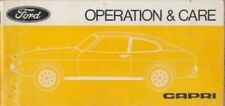 FORD CAPRI MK2 1.3 , 1.6 , 2.0 & 3.0 ORIGINAL 1976 OWNERS INSTRUCTION HANDBOOK