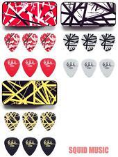 Dunlop 3 EVH Stripes Pick Tin Black /Yellow, Frankenstein & B/W & 18 .60mm Picks