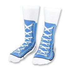 Blue Sneaker Socks Novelty Socks for Men Funny Gift Ideas Adult Size 5-11