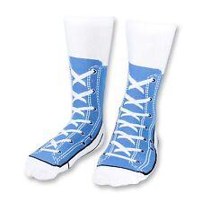 Blue Sneaker Socks Novelty Socks for Men Funny Gift Ideas Adult Size 5-11