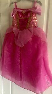 NWT! Disney Store Aurora Costume Gown Dress Princess Sleeping Beauty Size 4T