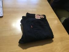 Levis mens 501 used jeans size 36x34 black nice condition