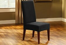 Sure Fit Stretch Pique Short Dining Chair Slipcover Black