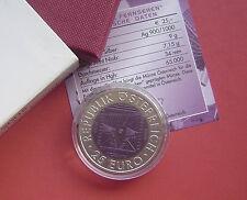 Austria 2005 50 years of television 25 Euro Silver+Niobium Bimetallic Coin