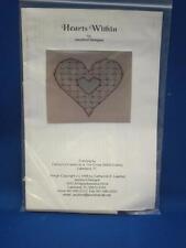 Jazzbird Designs HEARTS WITHIN Cross Stitch Kit 1998 Love Blue Pink Red w/ Beads