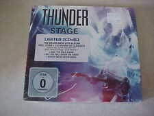 """Thunder  """"Stage"""" (Ear Music)  SEALED 2 CDS and BluRay Brand NEW set"""