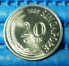 1985 Singapore 20 Cents Sword Fish Coin Uncirculated