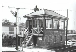 Rail Photo SR LBSC Lingfield station signal box Surrey Huirst green dormans