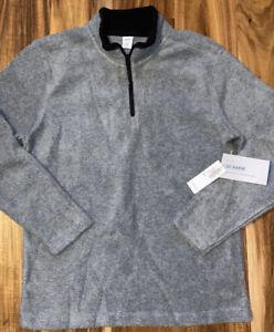 OLD NAVY Boy's Size M 8 Gray Long Sleeve Fleece Quarter Zip Pullover NWT NEW
