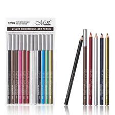 Fa- Als_ Dv_ 12Pcs Women Eyeshadow Eyeliner Lipliner Pencil Waterproof Lasting M