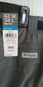 Men`s Columbia Nylon SPF 50 Fishing Pants 42 by 34 NW Tags