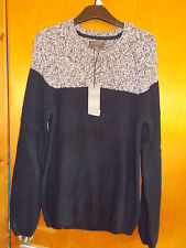 "M&S Ltd Edition Cotton Blend Knitted Jumper M Ch38-40"" Navy Mix BNWT"