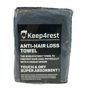 """KEEP4REST ANTI HAIR LOSS TOWEL 31"""" X 15"""" TOUCH & DRY SUPER ABSORBENT NEW SEALED!"""