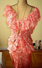 Donna Karan Black Label RUNWAY  SILK Skirt Suit**12** Made in ITALY