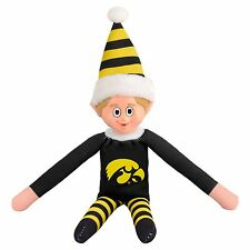 Iowa Hawkeyes Plush Christmas Elf -NCAA Doll On The Shelf Stuffed Toy