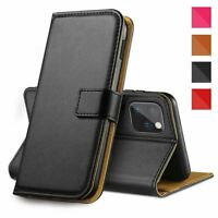 Flip Card Wallet Case Leather Phone Cover Glass Screen Protector For Apple