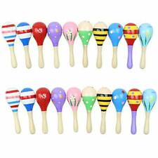 20 Pack Noisemakers 5&quot Wooden Mini Maracas, Assorted Designs, Perfect Kids,